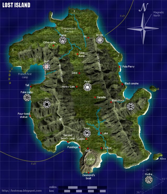 Map of LOST Island