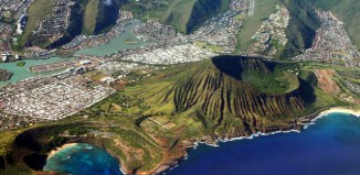Oahu Island, Hawaii, Photo from Air